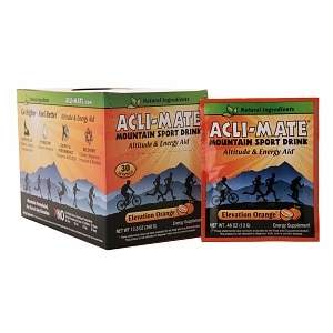 Acli-Mate Mountain Sport Drink Altitude & Energy Aid Packets, 30 pk, Orange
