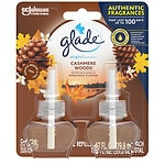 Glade PlugIns Scented Oil Refills, Cashmere Woods- 2 ea