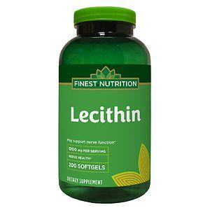 Finest Nutrition Lecithin 1200mg Softgels- 200 ea
