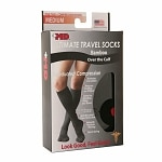 +MD Ultimate Travel Bamboo Compression Socks With Cushion- Black, Black, Medium- 1 pr