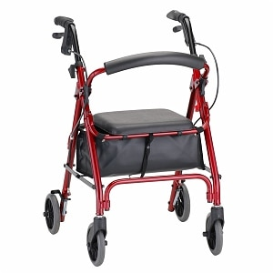 Nova GetGo Petite Classic Walker with Padded Seat and Bag, Red