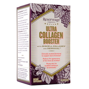 ReserveAge Organics Ultra Collagen Booster with Biocell Collagen & Dermaval, Capsules- 90 ea