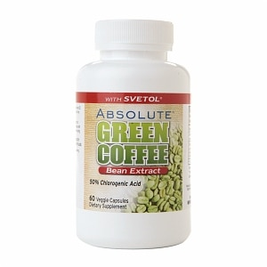 Absolute Nutrition Absolute Green Coffee Bean Extract with Svetol, Capsules