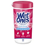 Wet Ones Antibacterial Hand Wipes, Fresh- 40 ea