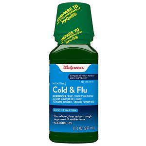 Walgreens Cold and Flu Relief Nighttime Original, 8 fl oz