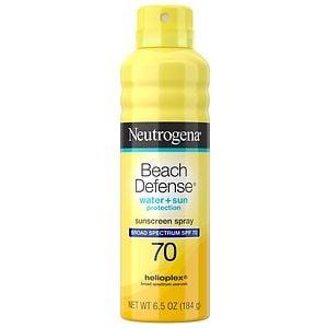 Neutrogena Beach Defense Water + Sun Barrier Sunscreen Spray SPF 70
