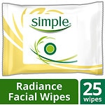 Simple Radiance Cleansing Facial Wipes- 25 ea