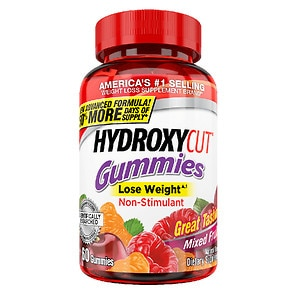 Hydroxycut Pro Clinical Weight Loss Gummies, Mixed Fruit- 60 ea