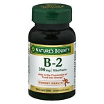 Nature's Bounty Vitamin B-2, 100mg
