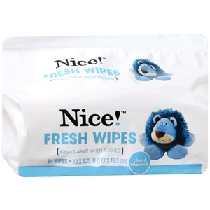 Nice! Flushable Moist Wipes Refill, 84 ea