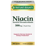 Nature's Bounty Flush Free Niacin, Inositol Hexanicotinate,