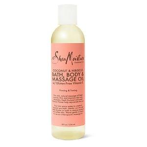 SheaMoisture Coconut & Hibiscus Bath, Body & Massage Oil- 8 Ounces