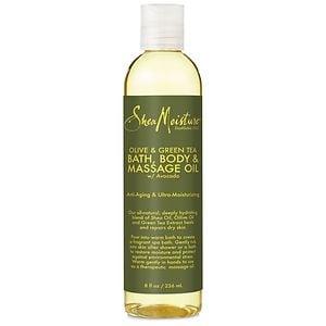 SheaMoisture Olive & Green Tea Bath, Body & Massage Oil- 8 Ounces