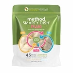 method Smarty Dish Plus Dishwasher Detergent Packets, 45 Loads,