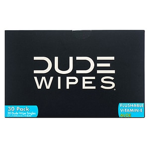 Dude Wipes Personal Wipes, Singles- 30 ea