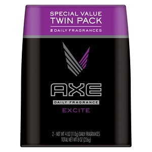 AXE Daily Fragrance, Excite, Twin Pack, 4 oz