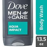 Dove Men+Care Body and Face Wash, Aqua Impact- 13.5 fl oz