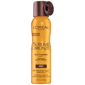 L'Oreal Paris Sublime ProPerfect Salon Airbrush Self-Tanning Mist, Deep- 4.6 oz