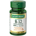 Nature's Bounty Methylcobalamin Vitamin B-12 1000 mcg- 60 ea