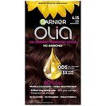 Garnier Olia Permanent Haircolor, 4.15 Dark Soft Mahogany