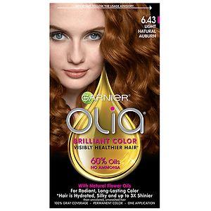 Garnier Olia Permanent Haircolor, 6.43 Light Natural Auburn- 1 ea
