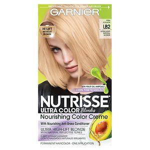 Garnier Nutrisse Ultra Color Permanent Haircolor, LB2 Ultra Light Natural Blonde