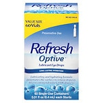 Refresh Optive Preservative-Free Lubricant Eye Drops Single Use Containers- .01 oz