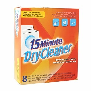 15 Minute Dry Cleaner Cleaning Cloths- 8 ea