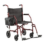 Walgreens Ultra-Light Weight Transport Chair, Burgundy- 1 ea