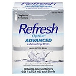Refresh Optive Sensitive Lubricant Eye Drops Single Use Containers