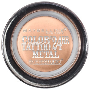 Maybelline EyeStudio Color Tattoo Metal 24hr Cream Gel Shadow, Barely Branded