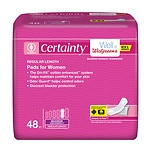 Walgreens Certainty Pads for Women, Maximum Absorbency, Regular