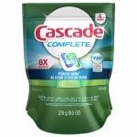 Cascade Complete ActionPacs Dishwasher Detergent, Fresh- 15 ea
