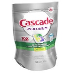 Cascade Platinum ActionPacs Dishwasher Detergent, 23 Count, Lemon Burst