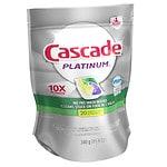 Cascade Platinum ActionPacs Dishwasher Detergent, Lemon Burst- 20 Each