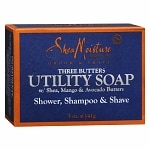 Shea Moisture Three Butters Utility Soap, Shower, Shampoo & Shave