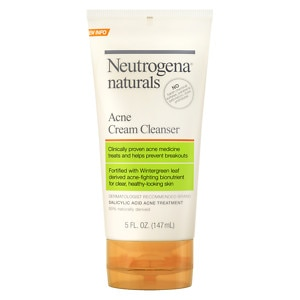 Neutrogena Naturals Acne Cream Cleanser, 5 fl oz