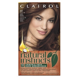 Clairol Natural Instincts Semi-Permanent Hair Color, 6W/13B Light Warm Brown