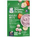 Gerber Organic Yogurt Melts, Freeze-Dried Yogurt Snacks, Banana
