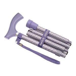 Switch Sticks Folding Walking Cane, Engraved Royal- 1 ea