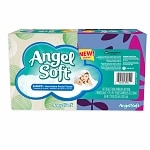 Angel Soft Facial Tissue, White, 2 pk- 75 sh