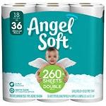Angel Soft Bath Tissue, Double Rolls- 18 ea
