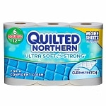 Quilted Northern Ultra Soft & Strong Bath Tissue, Double Rolls- 6 ea