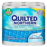 Quilted Northern Ultra Soft & Strong Bath Tissue, Double Rolls- 18 ea