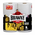 Brawny Paper Towels, Giant Rolls, White