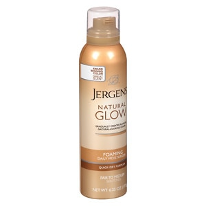 Jergens Natural Glow Foaming Daily Moisturizer, Fair to Medium, 6.25 oz
