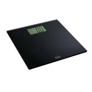 American Weigh Digital Glass Top Bathroom Scale Large Display, Black