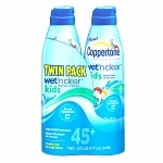 Coppertone Wet 'n Clear Kids Continuous Spray, SPF 45+, Twin Pack