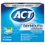 ACT Total Care Dry Mouth Lozenges, Mint- 18 ea