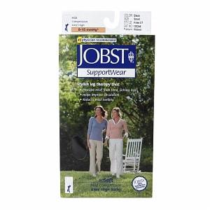 Jobst SupportWear SoSoft Mild Compression Socks, Knee High 8-15mmHg, Black, Small- 1 pr